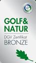 Golf&Natur DGV-Zertifikat Bronze
